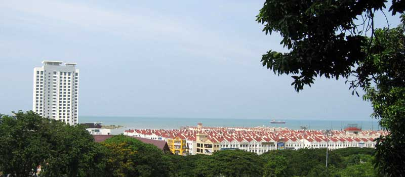 View of Malacca Straights